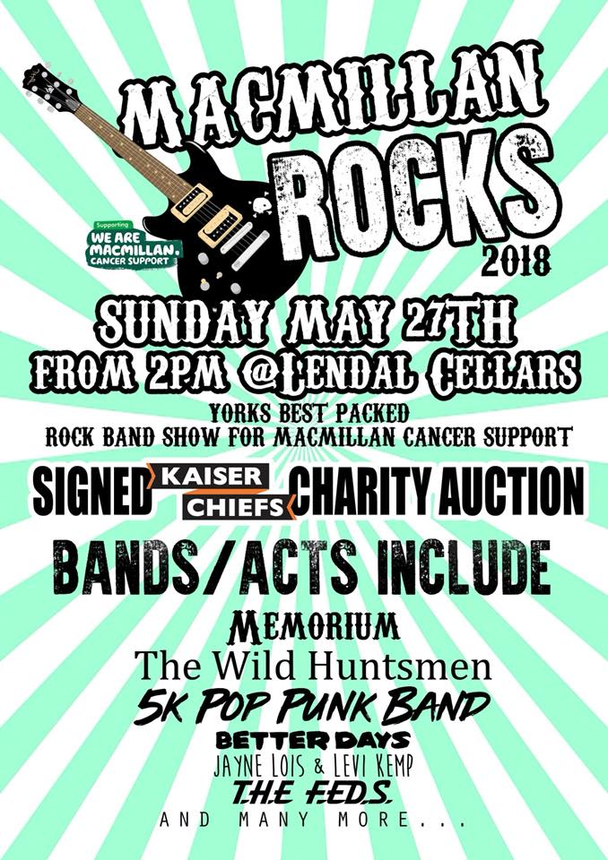 Macmillan Rocks  –  Tomorrow!